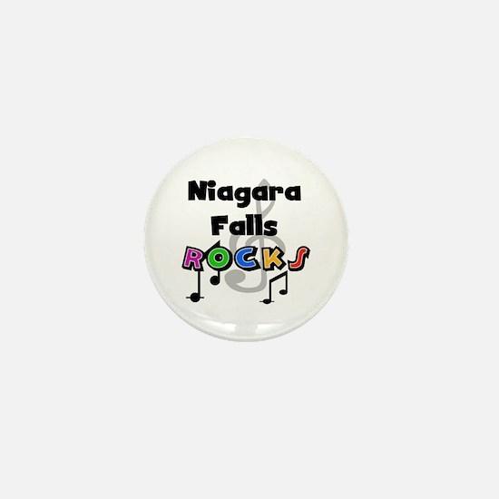 Niagara Falls Rocks Mini Button