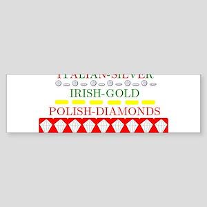 Polish Diamonds Bumper Sticker