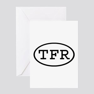 TFR Oval Greeting Card