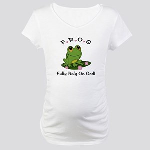 FROG Fully Rely On God Maternity T-Shirt