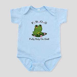 FROG Fully Rely On God Infant Bodysuit