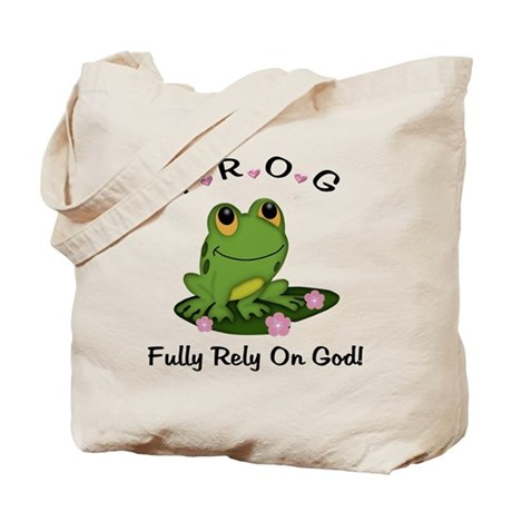 FROG Fully Rely On God Tote Bag