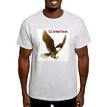 U.S. Armed Forces Eagle (Front) Ash Grey T-Shirt