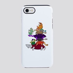 11 Funny Cartoon Turtles Stacked iPhone 8/7 Tough