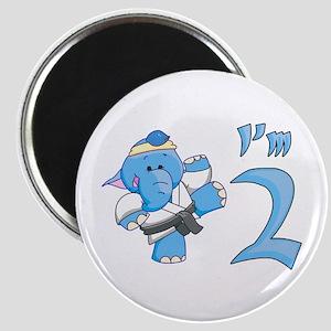 Elephant Karate 2nd Birthday Magnet