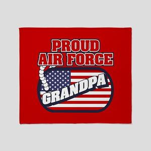 U.S. Air Force Proud Grandpa Throw Blanket