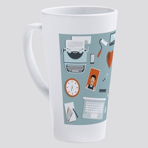 super cute, creative flat design 17 oz Latte Mug