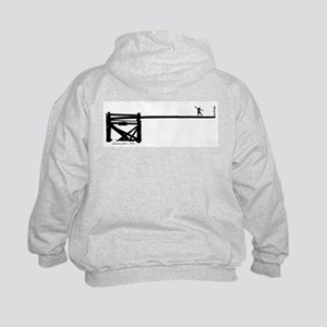 Fisherman Front / Greasypole Back Kids Hoodie