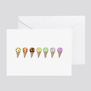 Lots of Ice Cream Greeting Cards