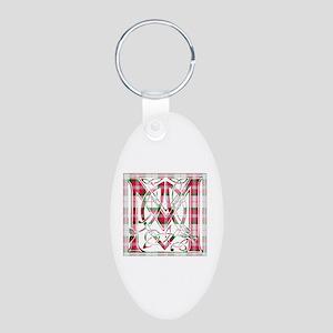 Monogram-MacLean dress Aluminum Oval Keychain