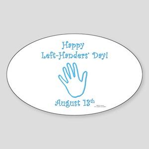 Left Handers' Day Sticker (Oval)