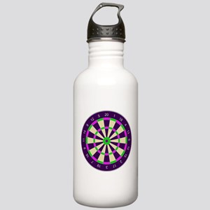 Purple Dart Board Stainless Water Bottle 1.0L