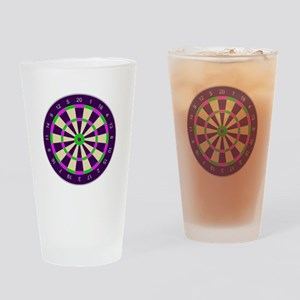 Purple Dart Board Drinking Glass