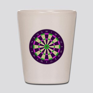 Purple Dart Board Shot Glass