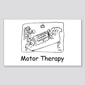 Motor Therapy Rectangle Sticker