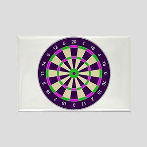 Purple Dart Board Magnets