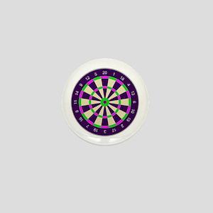 Purple Dart Board Mini Button