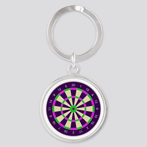 Purple Dart Board Keychains