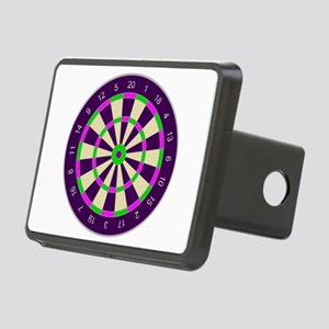 Purple Dart Board Rectangular Hitch Cover