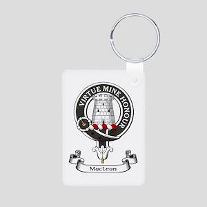 Badge-MacLean Aluminum Photo Keychain