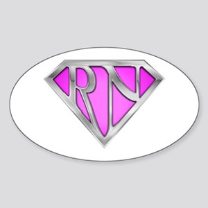 Super RN - Pink Oval Sticker