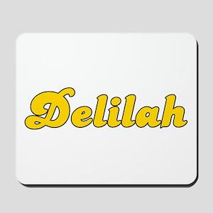 Retro Delilah (Gold) Mousepad