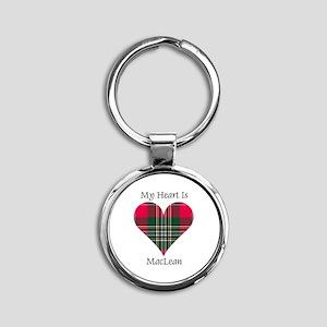Heart-MacLean Round Keychain
