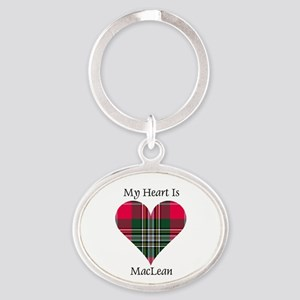 Heart-MacLean Oval Keychain