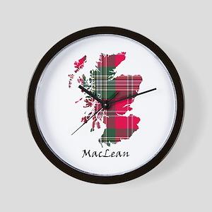 Map-MacLean Wall Clock