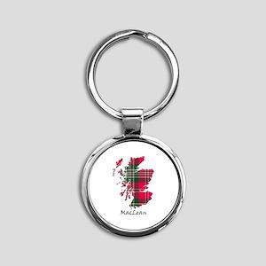 Map-MacLean Round Keychain