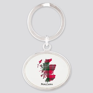 Map-MacLean Oval Keychain