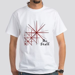 Martial Arts Bo Staff White T-Shirt