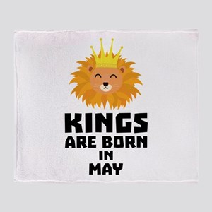 Kings are born in MAY Cyy84 Throw Blanket