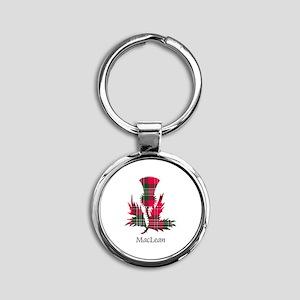 Thistle-MacLean Round Keychain