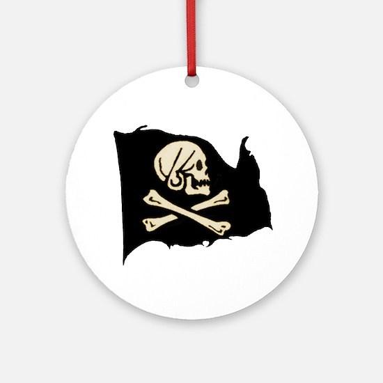 Henry Avery Pirate Flag Keepsake (Round)
