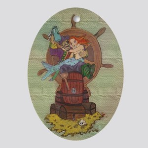 Pirate & Mermaid Keepsake Oval Ornament