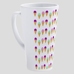 Pink & Blue Ice Cream Cones 17 oz Latte Mug