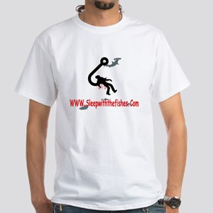 Funny Fishing White T-Shirt