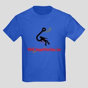 Funny Fishing Kids Dark T-Shirt