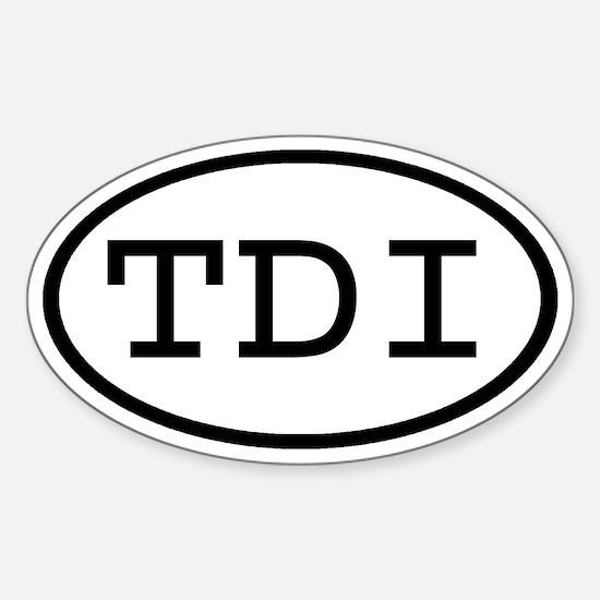 TDI Oval Oval Stickers