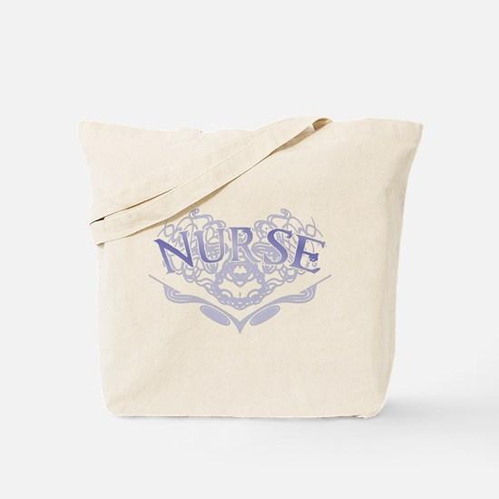 Nurse Lattice Graphic Heart Tote Bag