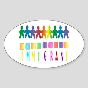 Immigrant Sticker (Oval 10 pk)