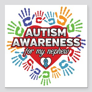"""Autism Awareness for my Square Car Magnet 3"""" x 3"""""""