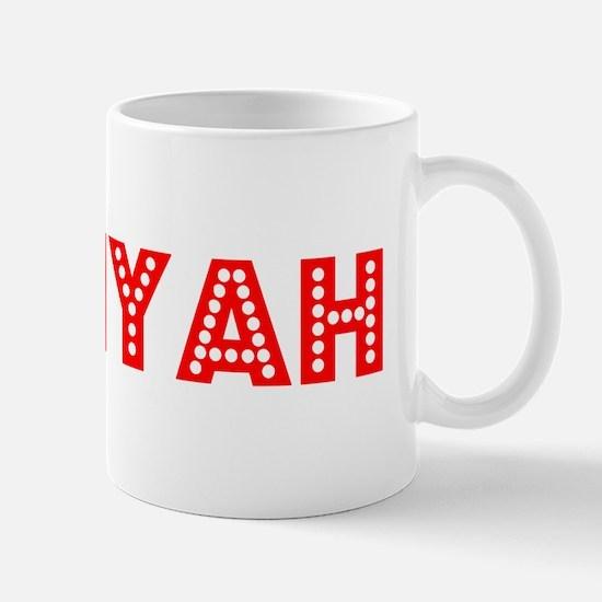 Retro Saniyah (Red) Mug