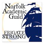 "Norfolk Academic Guild Square Car Magnet 3"" X"