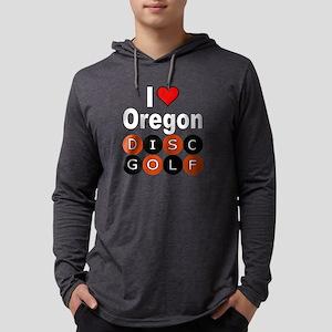 I Love Oregon Disc Golf Long Sleeve T-Shirt