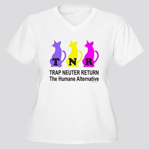 TRAP NEUTER RETURN Women's Plus Size V-Neck T-Shir