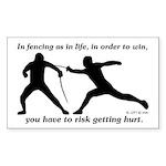 Get Hurt Rectangle Sticker 50 pk)