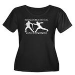 Get Hurt Women's Plus Size Scoop Neck Dark T-Shirt