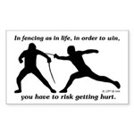 Get Hurt Rectangle Sticker